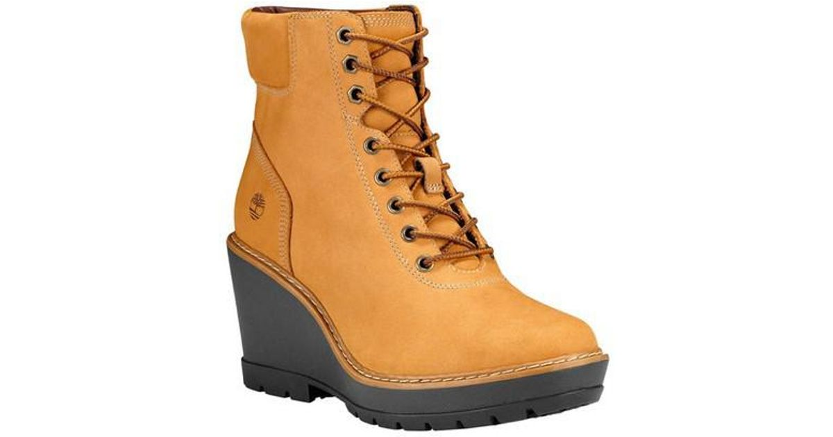 fafca6a74cc Lyst - Timberland Kellis Wedge Ankle Boot