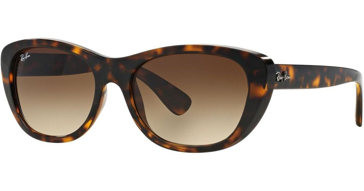 d2a12fd837192 ... coupon code lyst ray ban 0rb4227 710 13 55 light havana brown gradient  highstreet sunglasses in