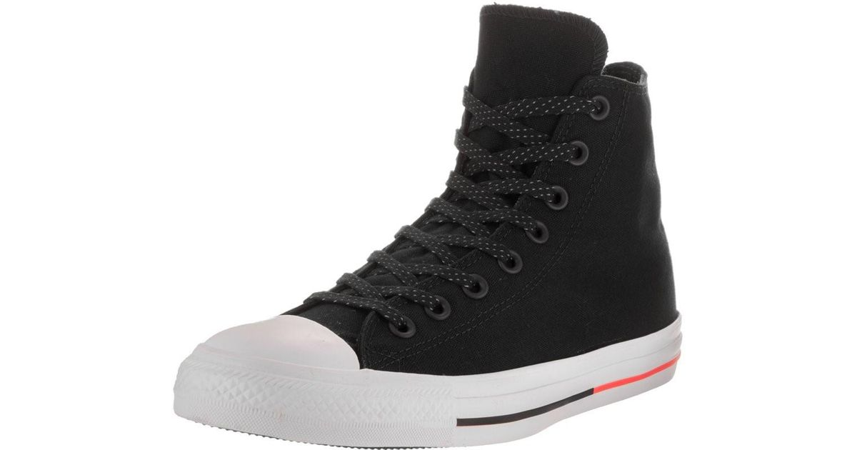 5c79390081bad6 Lyst - Converse 153792f  Chuck Taylor All Star Hi Black white lava  Basketball Shoes (11 D(m) Us) in Black for Men