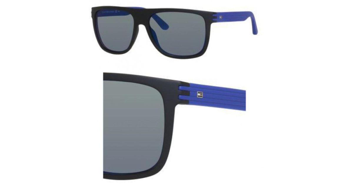 3f775eb6b29 Lyst - Tommy Hilfiger T hilfiger 1277 s Sunglasses 0fb1 57 Black Blue (23  in Blue