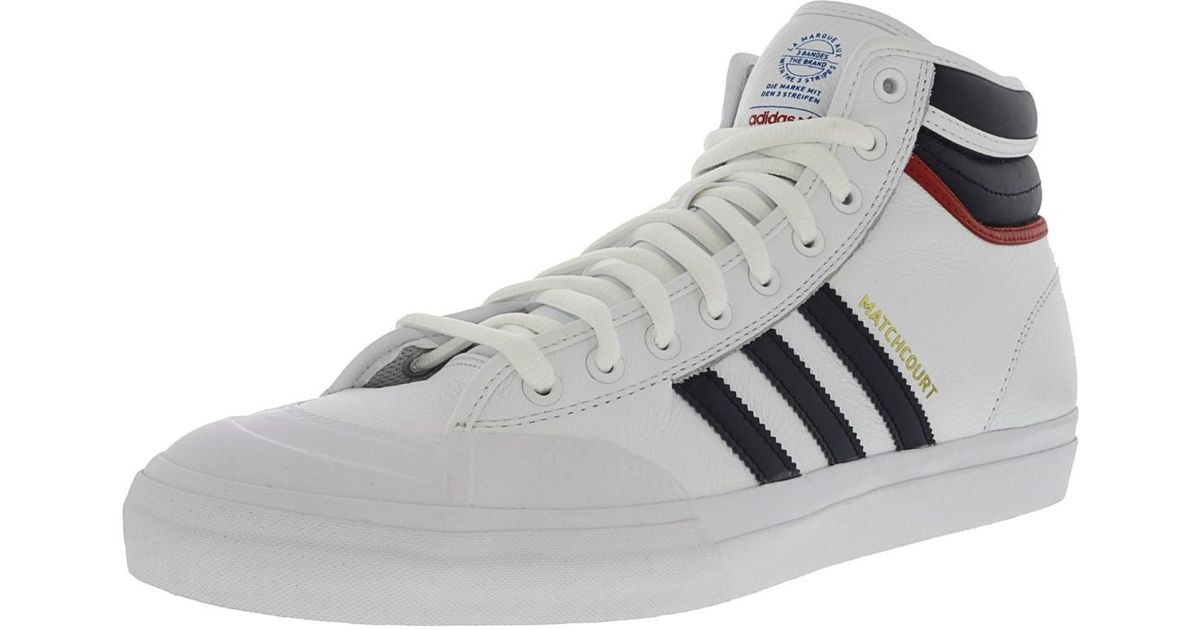 sneakers for cheap 57f6a d10a1 Lyst - adidas Matchcourt High Rx2 Footwear White   Collegiate Navy Scarlet  High-top Leather Fashion Sneaker - 10m in White for Men