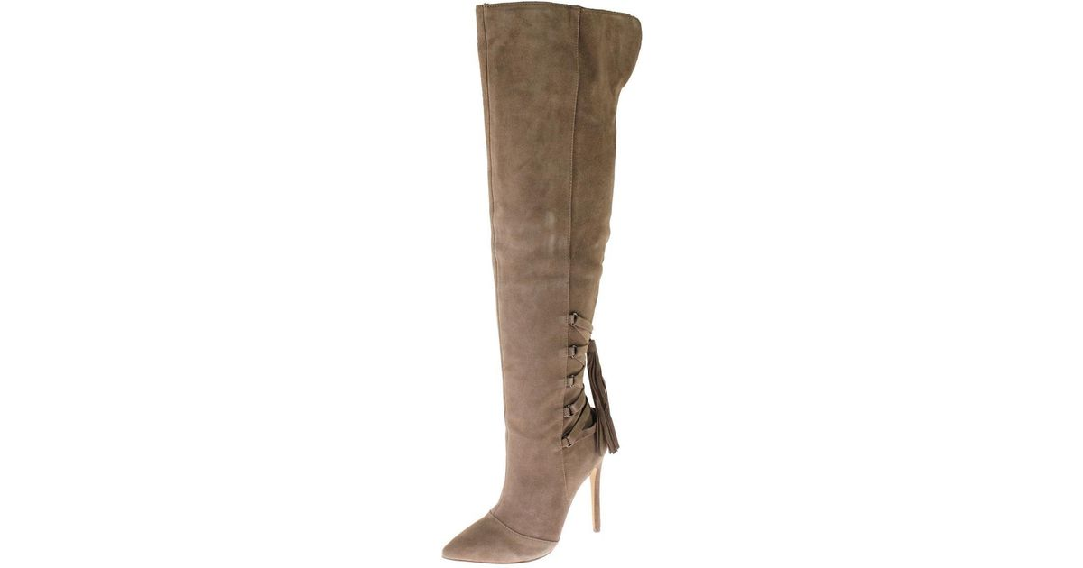 26a202c38a3 Steve Madden - Brown Norland Suede Almond Toe Thigh-high Boots - Lyst