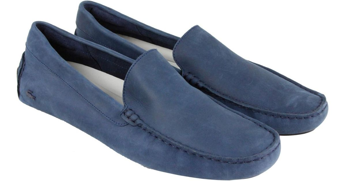 0be8992970e2 Lyst - Lacoste Piloter 316 1 Cam Navy Mens Casual Dress Loafers in Blue for  Men