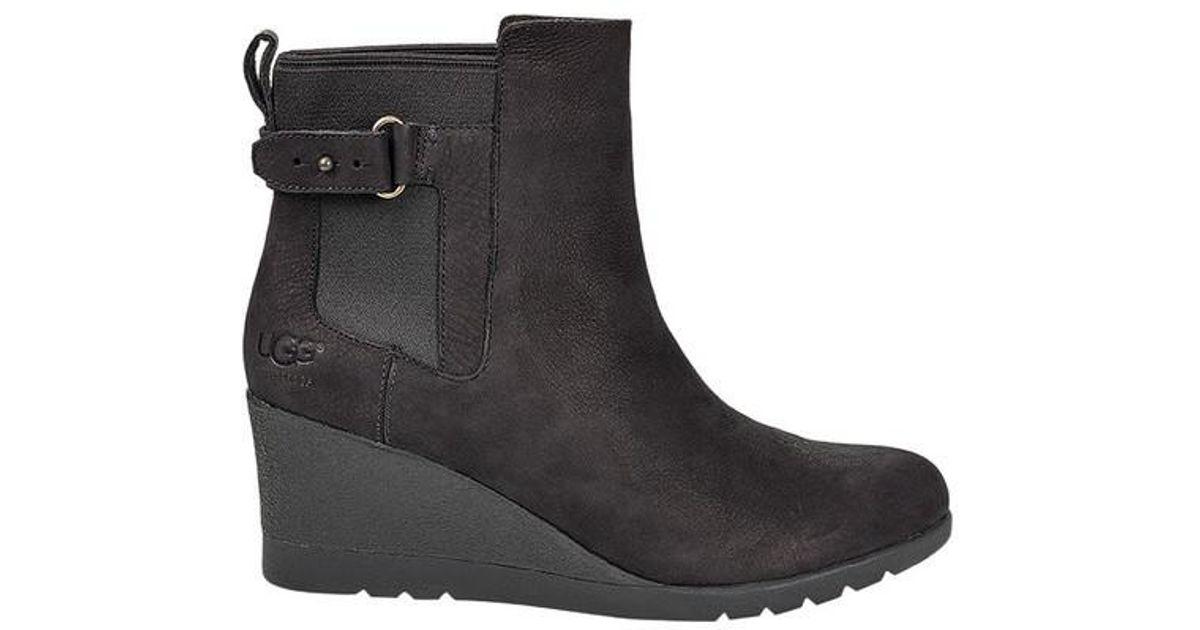 17b3af16c181 Lyst - UGG Ugg Indra Wedge Winter Boot in Black