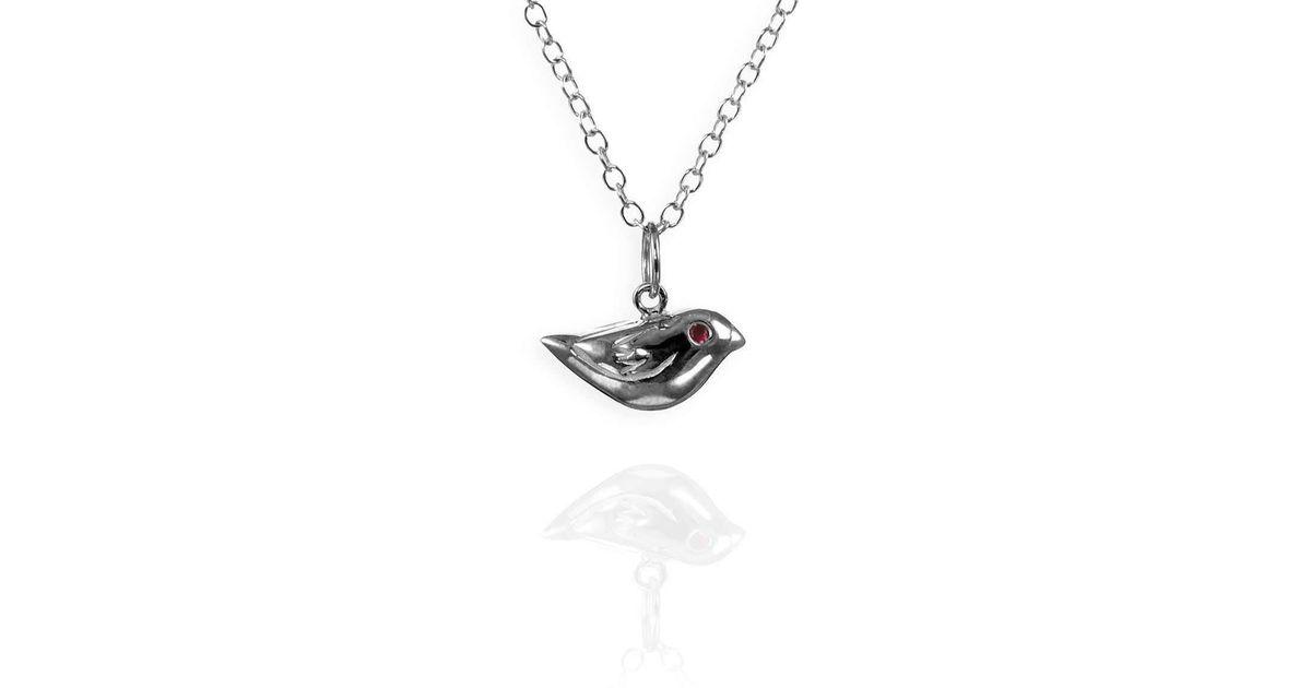 Lyst jana reinhardt jewellery little sparrow silver charm necklace lyst jana reinhardt jewellery little sparrow silver charm necklace in metallic aloadofball Images
