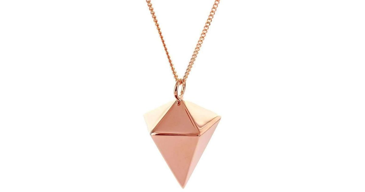Origami Jewellery Sterling Silver Decagem Necklace pvJQ5qmNh
