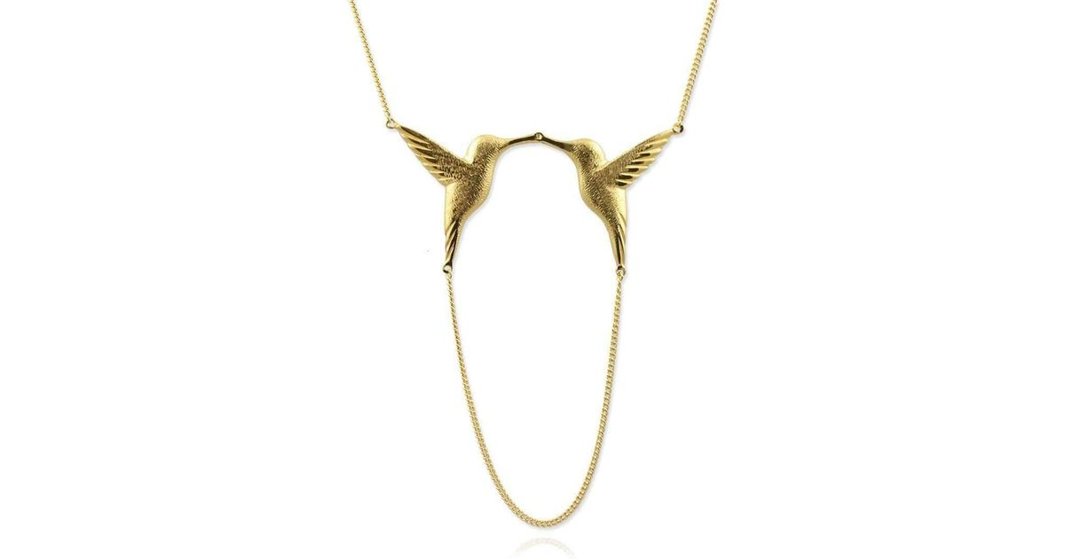 Jana Reinhardt Sterling Silver Twin Hummingbird Necklaces