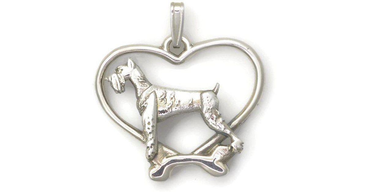 Donna Pizarro Designs Sterling Silver Schnauzer Necklace pbRRP4jw8f