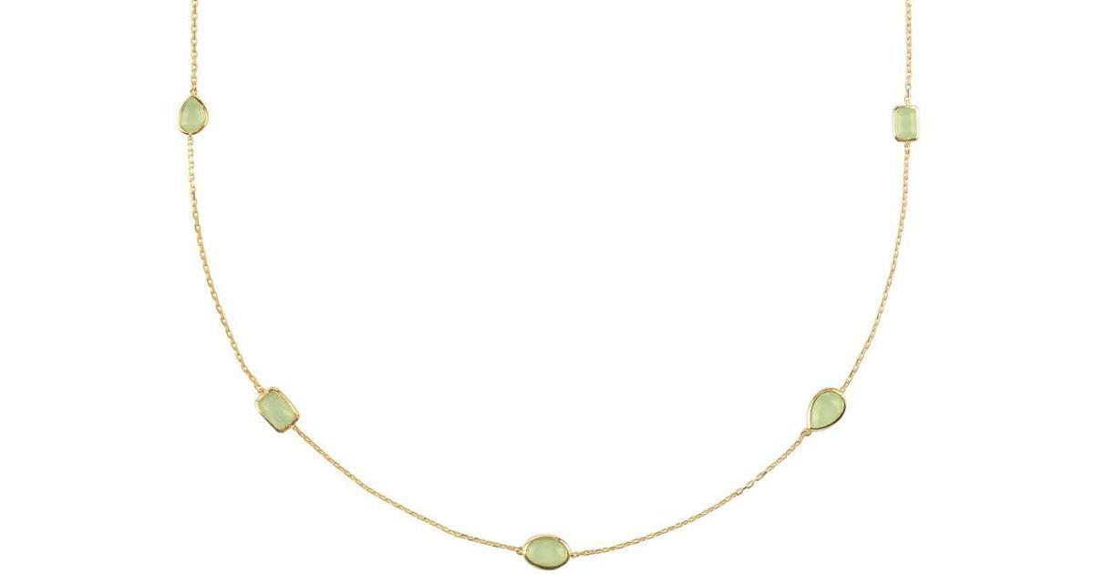 Latelita London Venice Bracelet Gold Aqua Chalcedony DZbyRrtJ