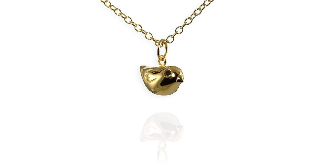 Lyst jana reinhardt jewellery golden sparrow charm necklace aloadofball Images