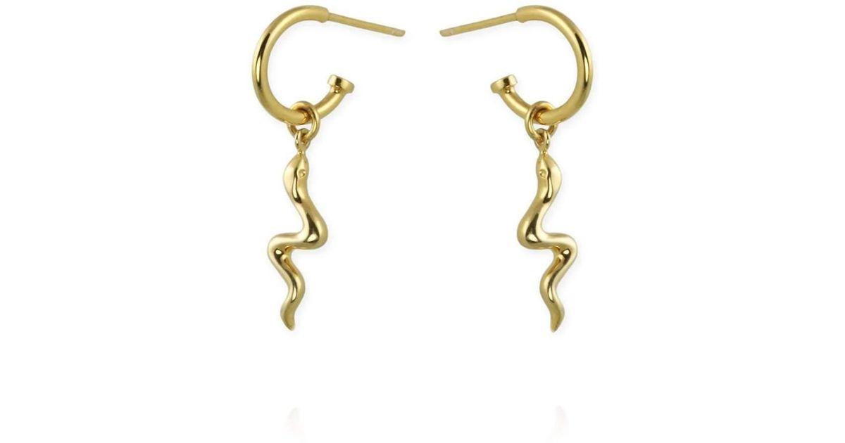 Jana Reinhardt Gold Plated Silver Sparrow Ear Studs SOOihYZ