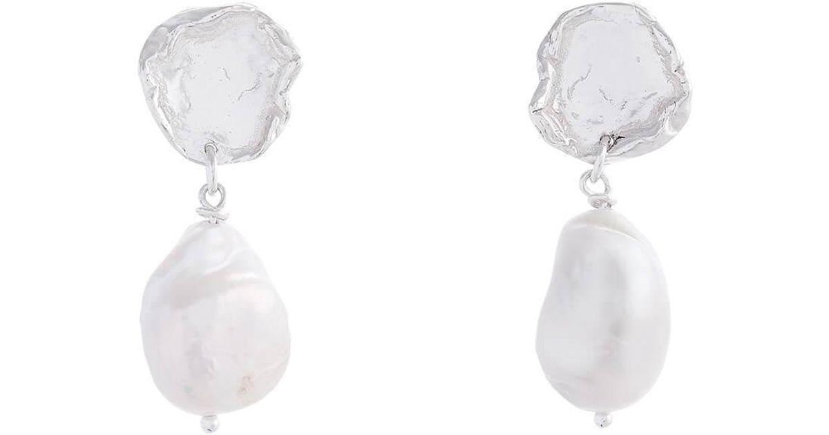 Deborah Blyth Jewellery Silver Arva Pearl Earrings Pp48T8m
