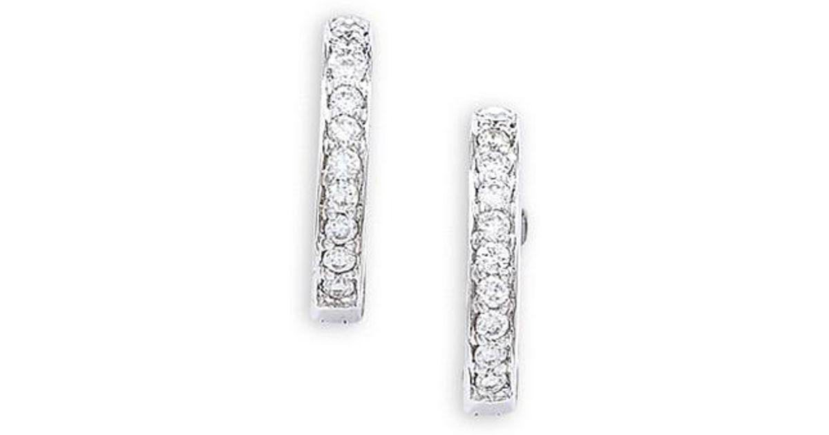 London Road Jewellery Portobello Meridian White Gold Diamond Hoop Earrings 1CHzDwkg