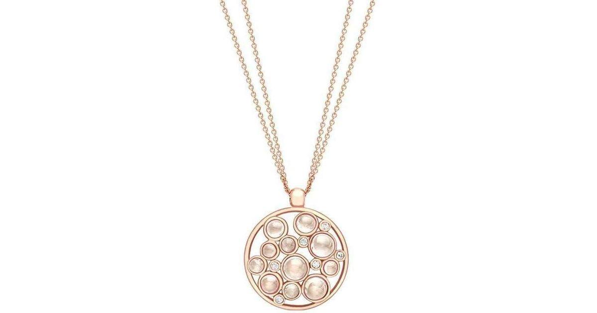 London Road Jewellery Pimlico Bubble Rose Gold Diamond Pendant o7AJbf1V5C
