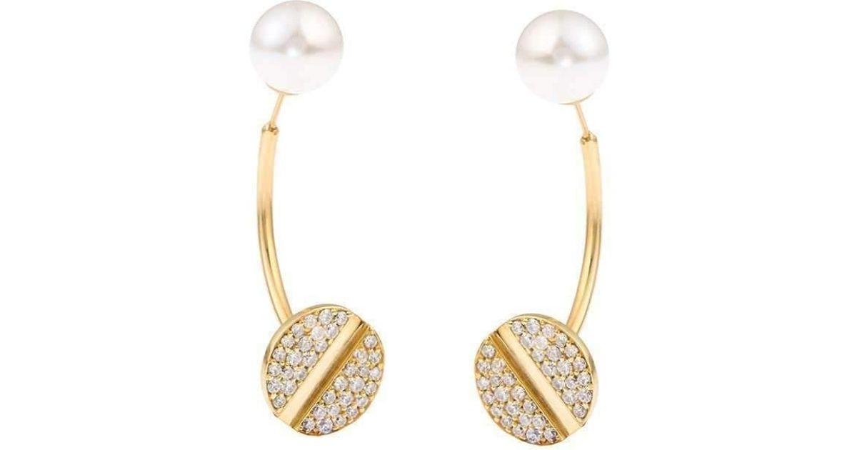 Joanna Laura Constantine Nail Pearl Ear-Jacket Earrings lfF4JNB