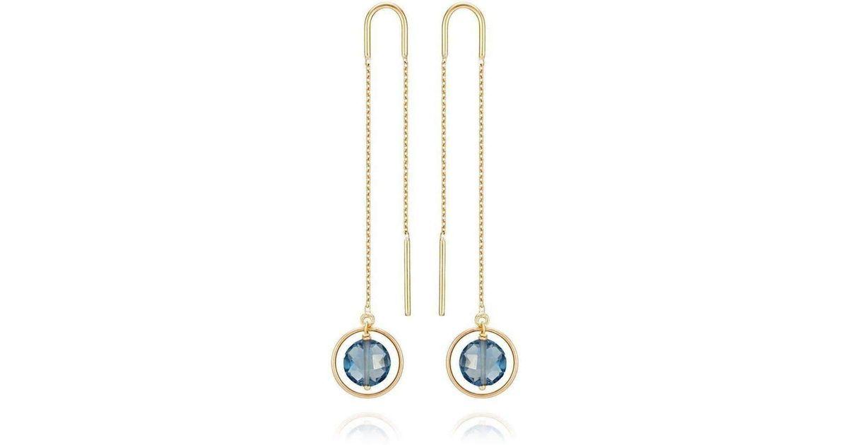 Perle de lune Ellipse Earrings 18kt Gold Pink KT4AmLQv