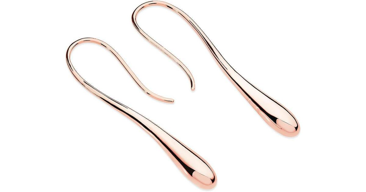 Lucy Quartermaine Dropping Hoop Earrings Gold Plated nPQt1