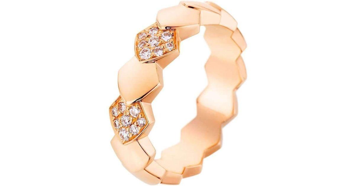 Akillis Python Yellow Gold Ring - UK L 1/4 - US 5 3/4 - EU 52 f6FMG6v