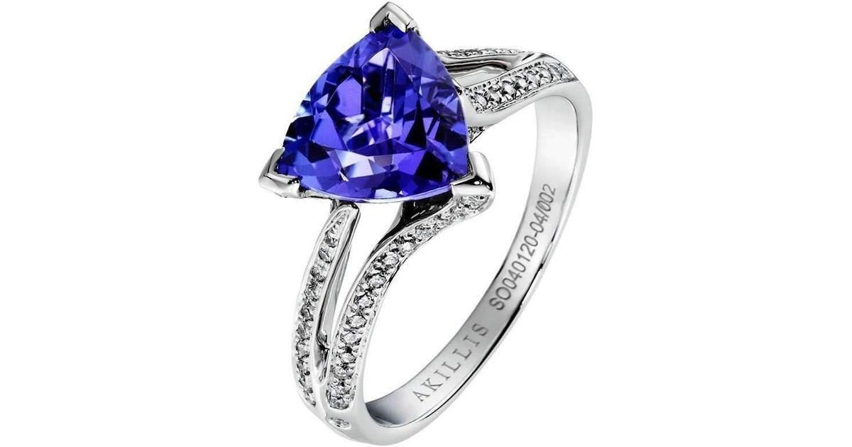 Akillis Yes I Do Engagement Ring White Gold, Diamonds and Spinel - UK K 1/2 - US 5 3/8 - EU 51
