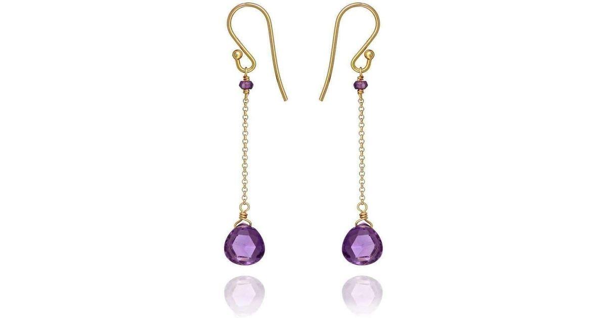 Perle de lune Drop Earrings With Amethyst Amethyst 18kt Gold yyKiKbbopl