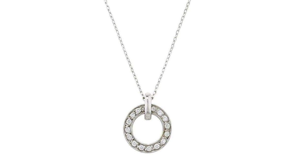 London Road Jewellery Portobello White Gold Meridian Diamond Pendant uUYflT