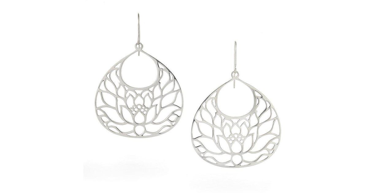 House of Alaia Small Lotus Flower Earrings In Bronze