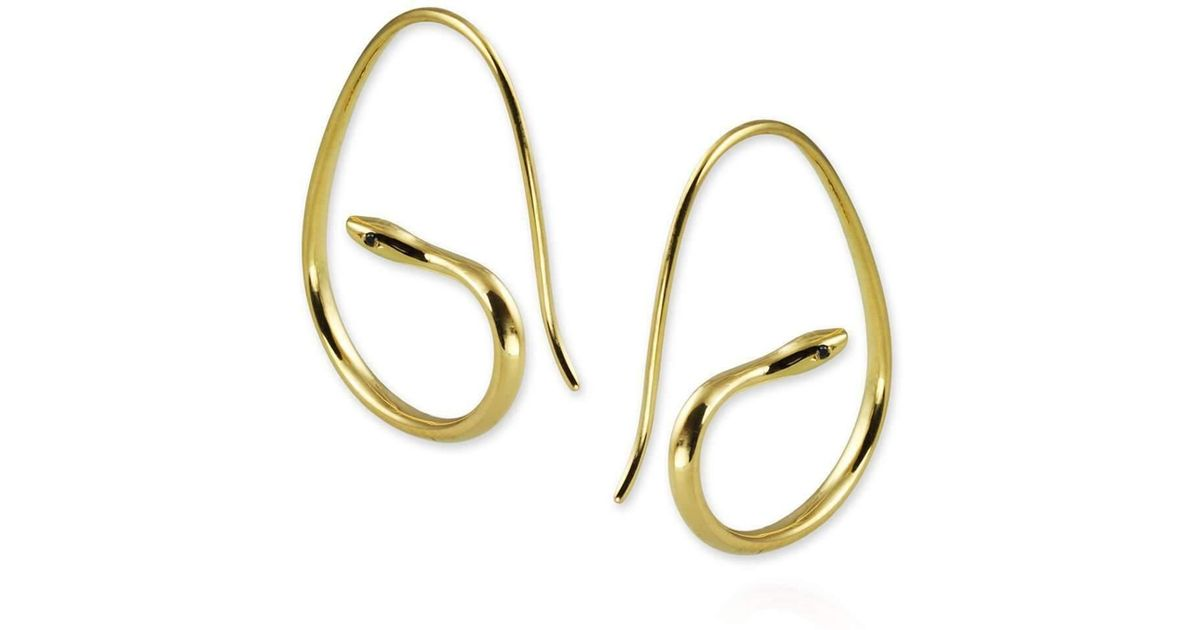 Jana Reinhardt Gold Plated Silver Snake Chain Earrings blqA2l