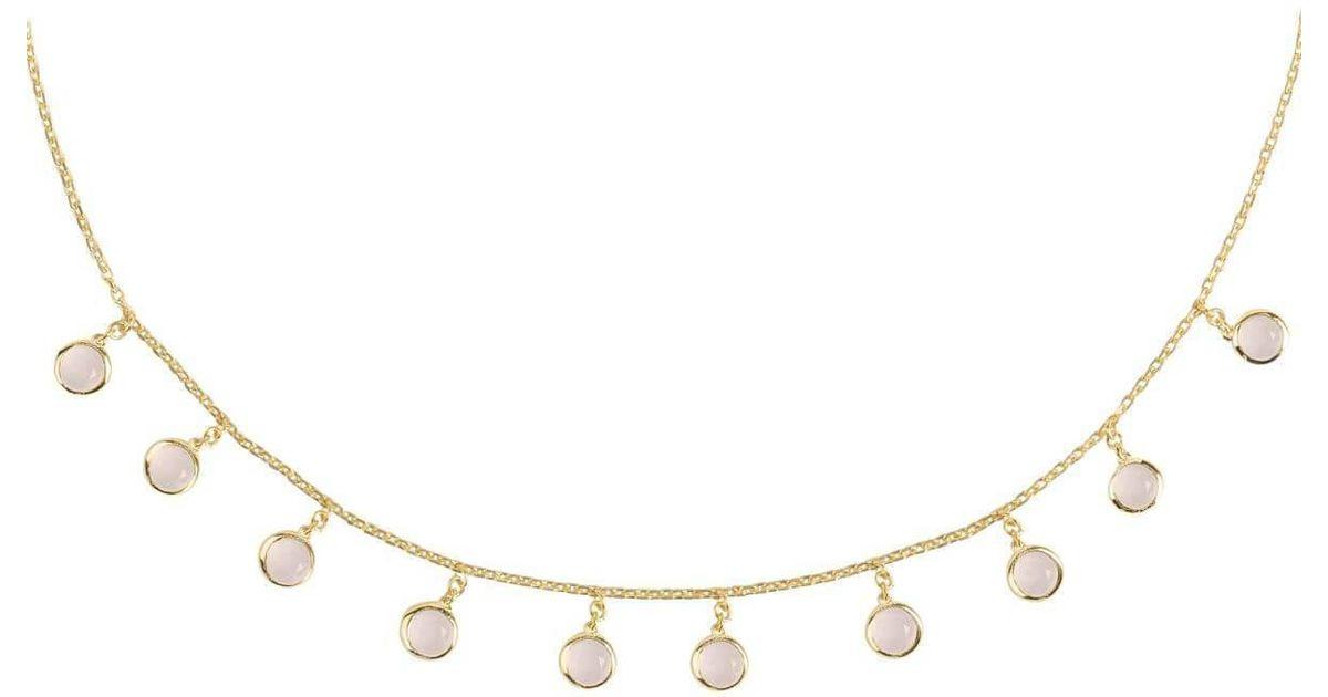 Latelita London Florence Round Gemstone Necklace Rose Gold Pink Tourmaline Cw0qXv