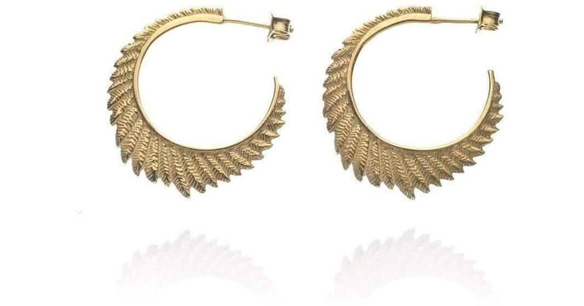 Patience Jewellery Fern small hoops VM
