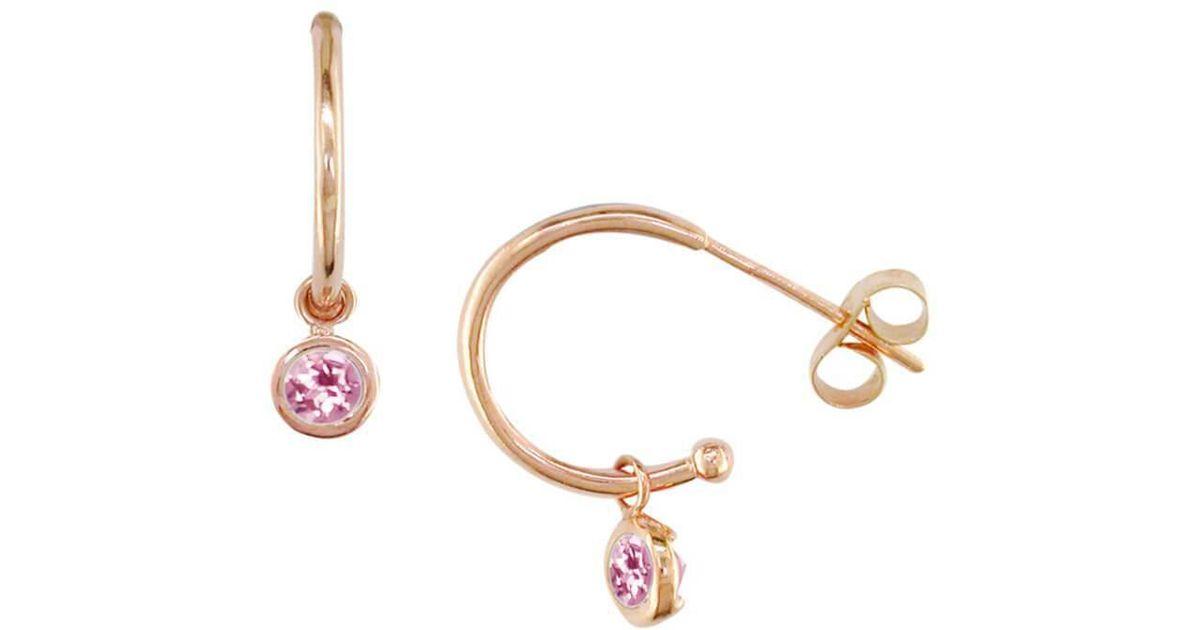London Road Jewellery Stylish Rose Gold Peridot Dew Drop Hoop Earrings HXnLvIHmT