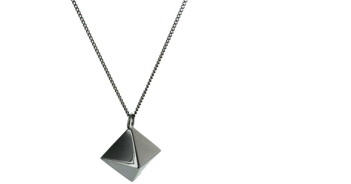 Origami Jewellery Sterling Silver Mini Octagem Origami Necklace BRmg0GI