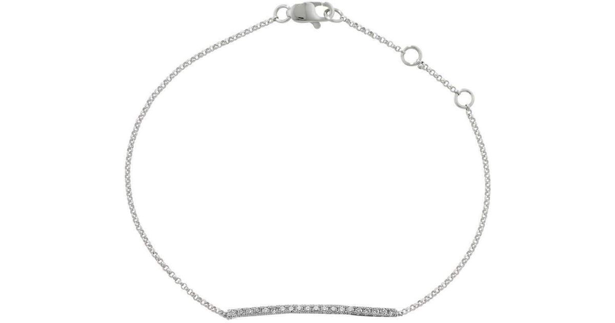 London Road Jewellery Portobello White Gold Diamond Geo Bracelet gwF415TMxN