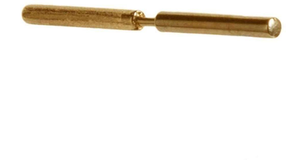 Dutch Basics Gold Plated 2 Pearls Stick Earring oAbM3i