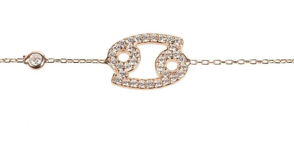 Latelita London Cancer Zodiac Bracelet Rose Gold io6HRra