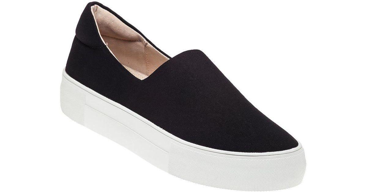 007bc5186e0d J Slides Ariana Slip On Sneaker Black Fabric in Black - Lyst