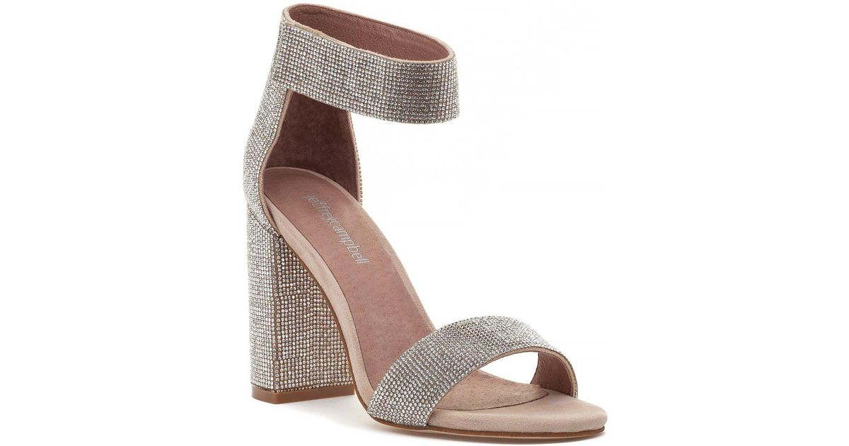 bd26f46ff0e Lyst - Jeffrey Campbell Lindsay-js Sandal Nude Suede Champagne in Natural