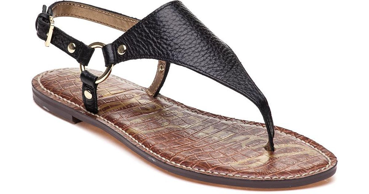 56ff7132d Sam Edelman Greta Sandal Black Leather in Black - Save 25% - Lyst