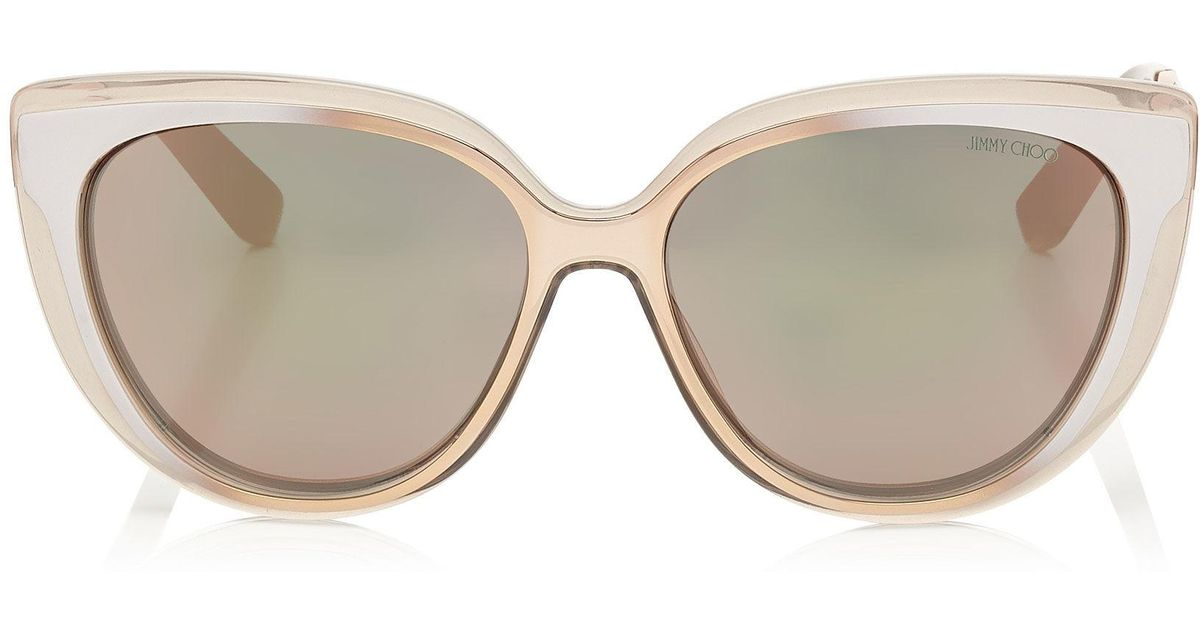 d553a358d483 Lyst - Jimmy Choo Cindy in Natural