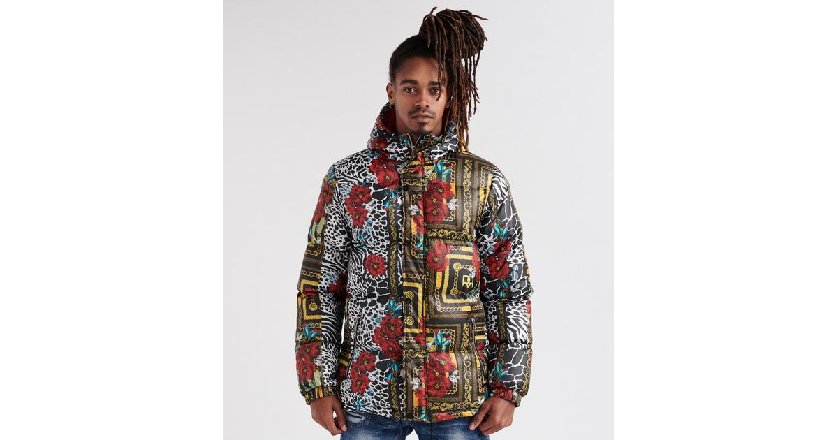 3cd886db787 Lyst - Reason Chains Puffer Hooded Jacket for Men