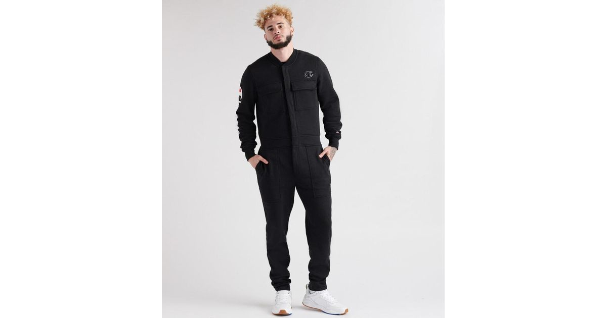 0cec0bae4539 Lyst - Champion Super Fleece 3.0 Coverall Jumpsuit in Black for Men