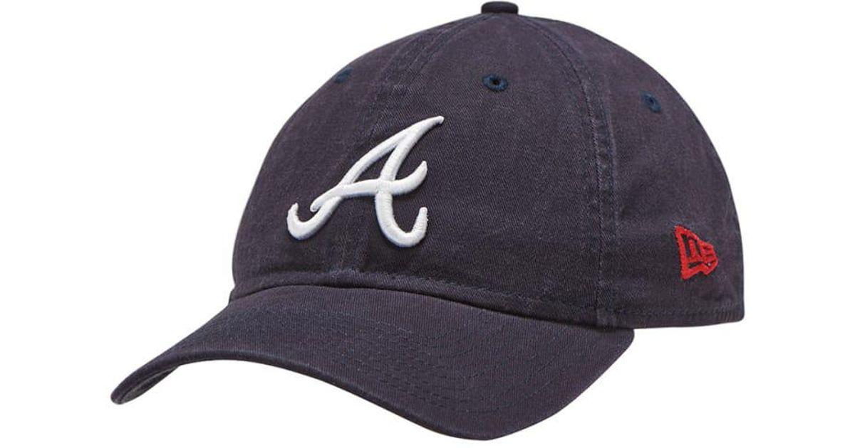 detailed look eb3f6 ee507 Lyst - Ktz Atlanta Braves 9twenty Dad Hat in Blue for Men