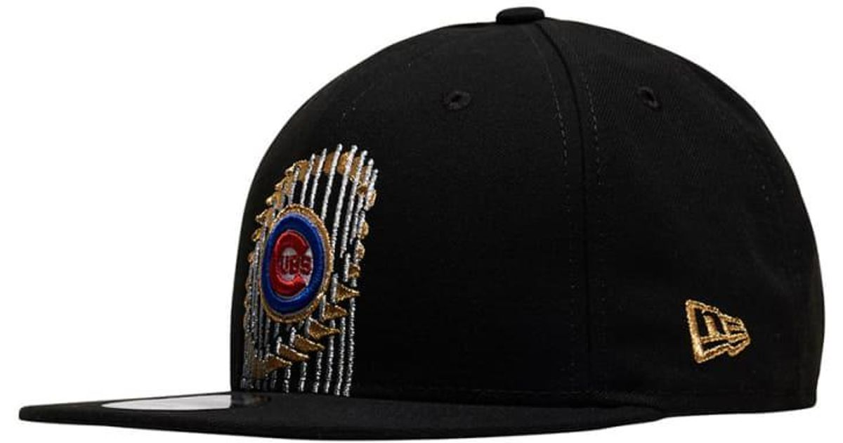save off c4af6 8181d ... best price lyst ktz chicago cubs world series snapback hat in black for  men bc033 65041