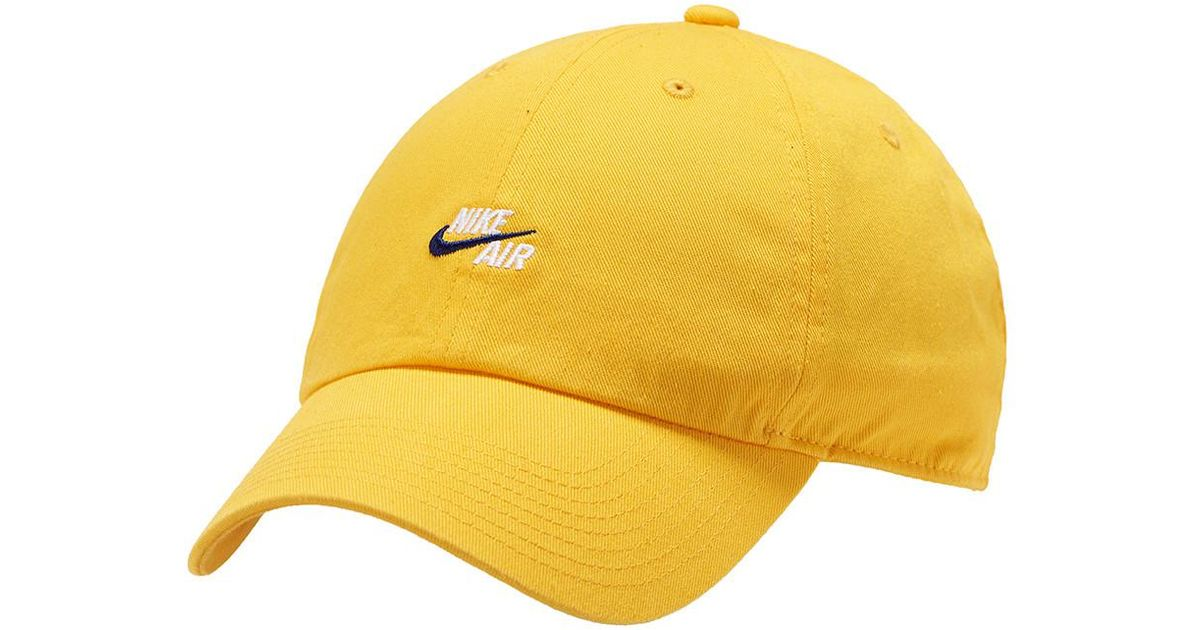 separation shoes 419f6 351c0 ... new zealand lyst nike two tone air h86 cap in yellow for men 7a53c 075fc