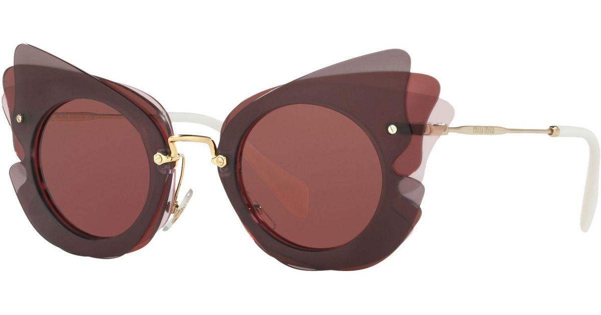 17829ce2b45 Miu Miu Mu 02ss Triple Butterfly Frame Sunglasses - Lyst