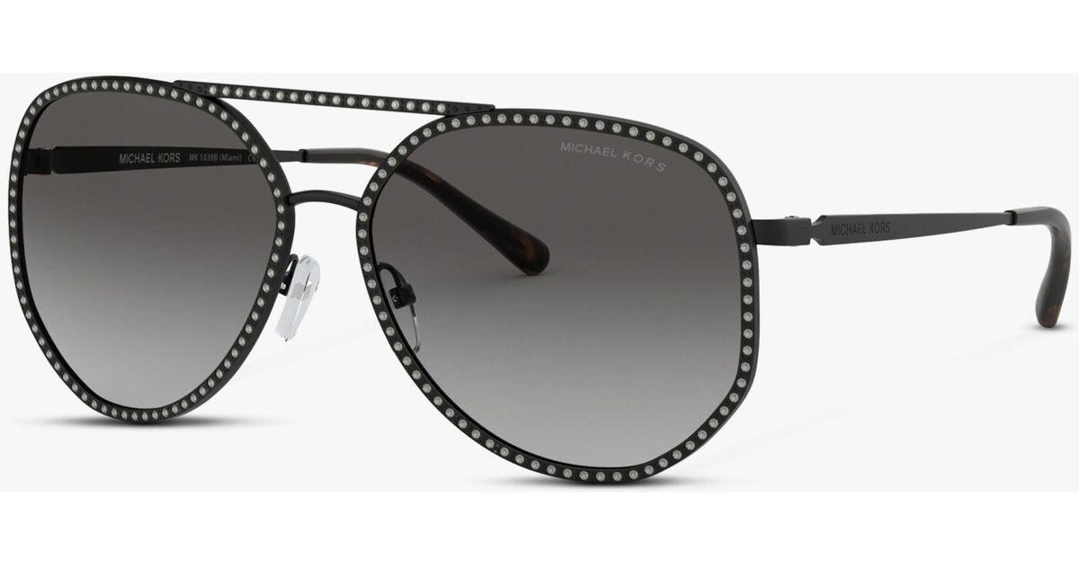 3069f1373 Michael Kors Mk1039b Women's Miami Sunglasses in Black - Lyst
