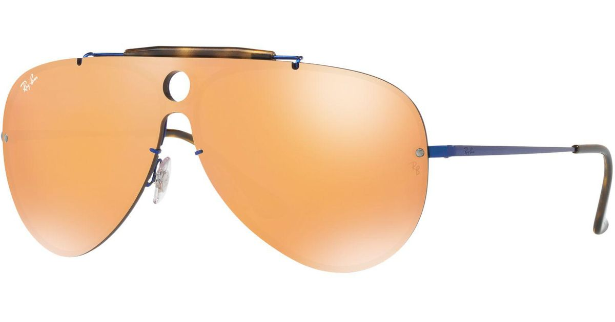 c9fdc83fa9 Ray-Ban Rb3581n Blaze Shooter Aviator Sunglasses - Lyst