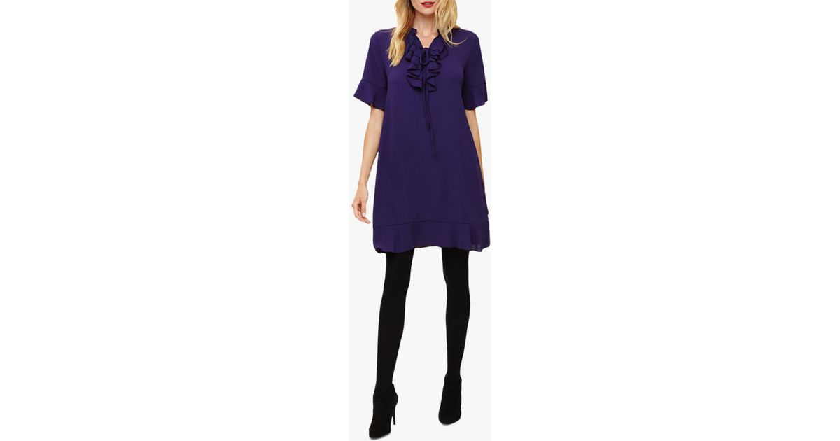 7eae7f8bf96 Phase Eight Sarah Frill Dress in Purple - Lyst