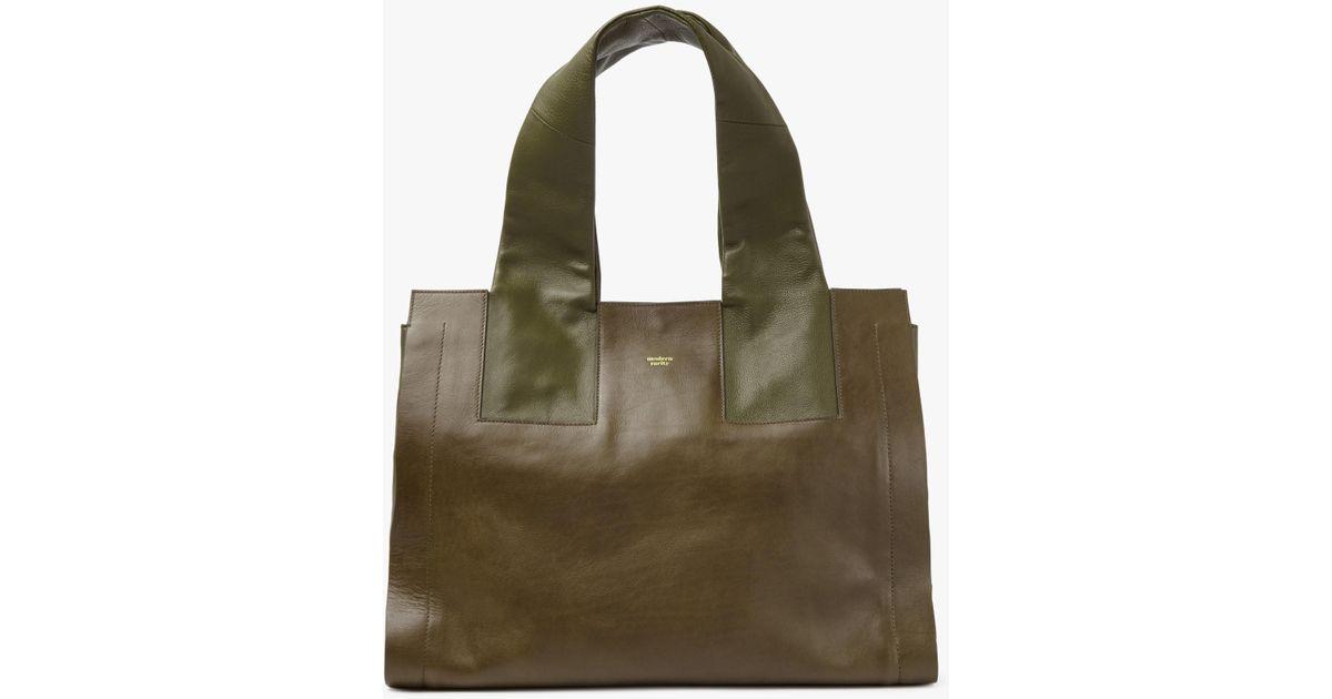 40f4c20d30 Modern Rarity Carmenere Leather Tote Bag in Green - Lyst