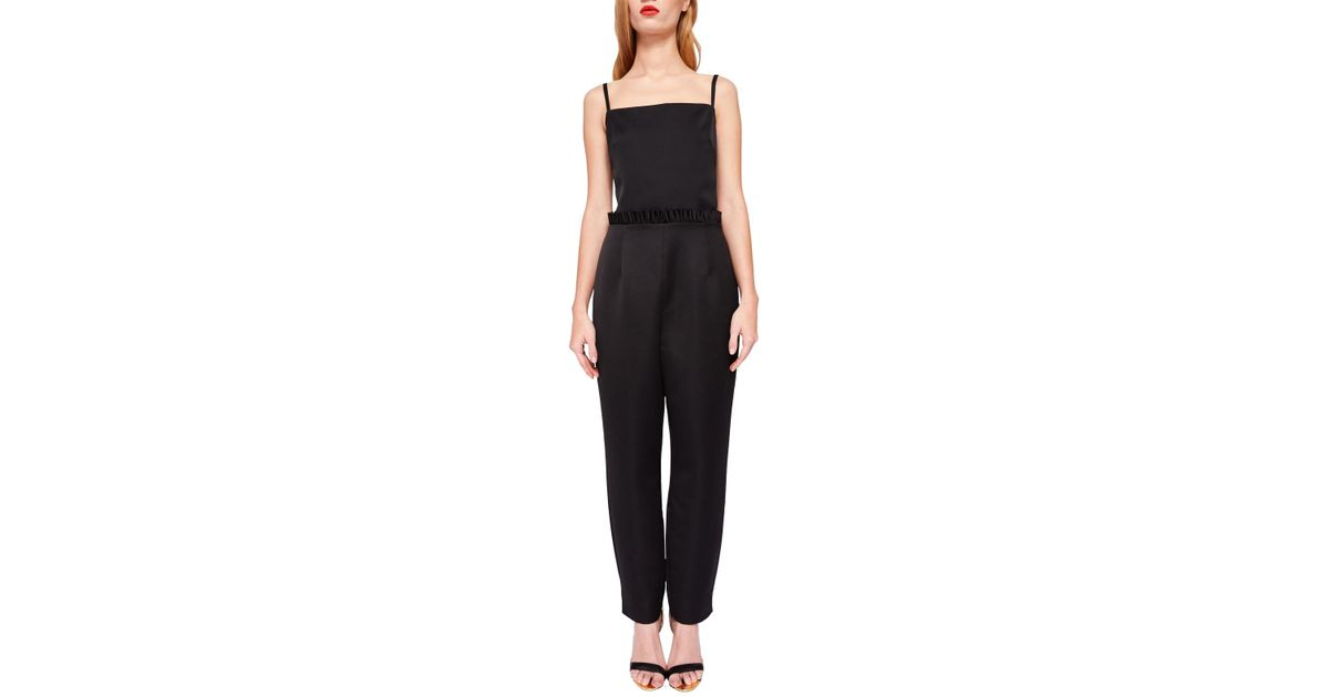 adf52bae81f Ted Baker Liayla Ankle Grazer Jumpsuit in Black - Lyst