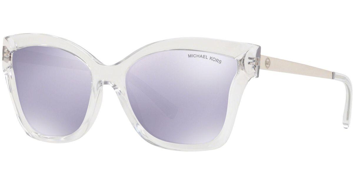 e138c1396a Michael Kors Mk2072 Women s Barbados Square Sunglasses - Lyst